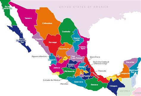Map Of States Of Mexico by Mexico Map By States
