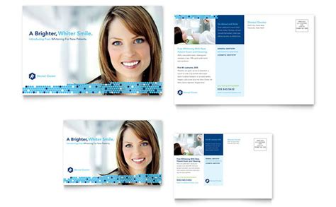 Dental Postcards Templates Dentistry Dental Office Postcard Template Design