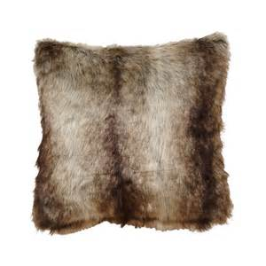 western bedding chinchilla faux fur pillow lone