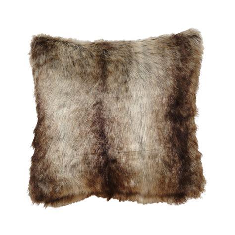 Faux Fur Pillow by Chinchilla Faux Fur Pillow