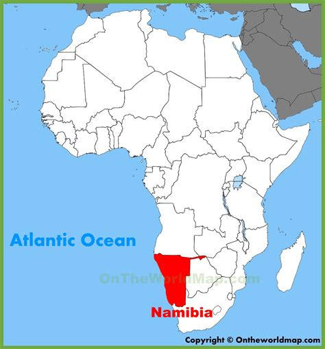 africa map namibia namibia location on the africa map