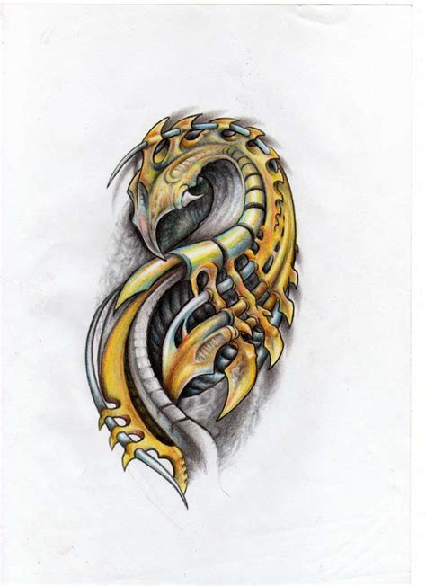 sharp tattoo designs sharp blades ridges inspirations biomechanical