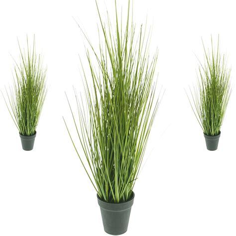 decorative grass plants artificial potted grass 63cm decorative plant in black pot