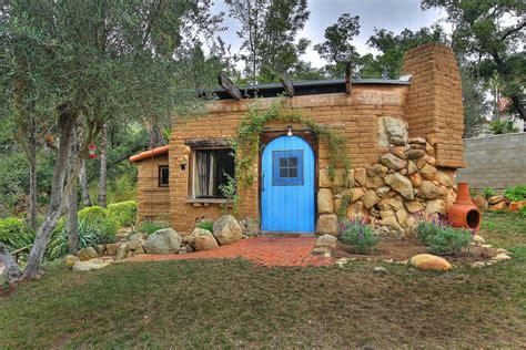 Small house small adobe brick house