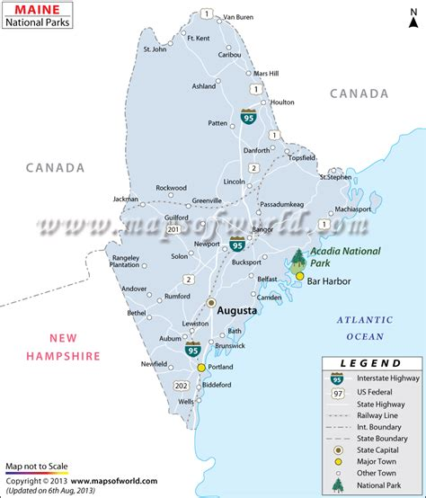 map of national parks usa maine national parks map