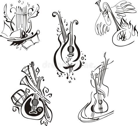 clipart strumenti musicali strumenti musicali stilizzati illustrazione vettoriale