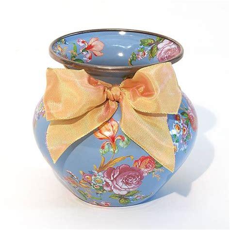 Pink Vase Mackenzie Childs Flower Market Enamel Vase Blue