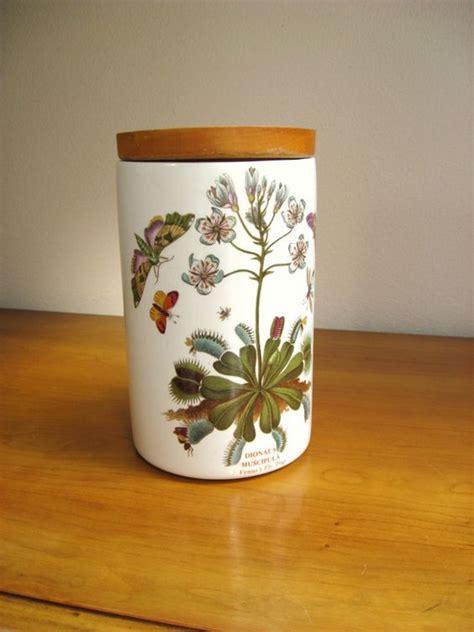 Botanic Garden Pottery Vintage Portmeirion Canister Jar Botanic Garden 8