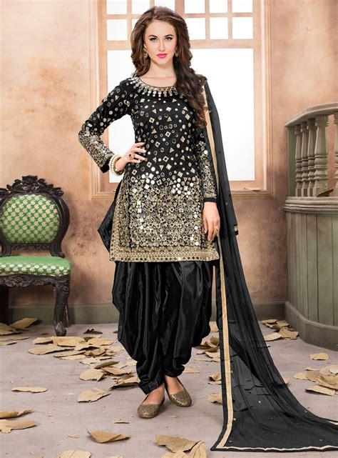 punjabi dress punjabi dress products punjabi dress tattoo design black taffeta silk punjabi suit 116788