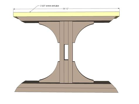 free pedestal dining table plans woodworking projects
