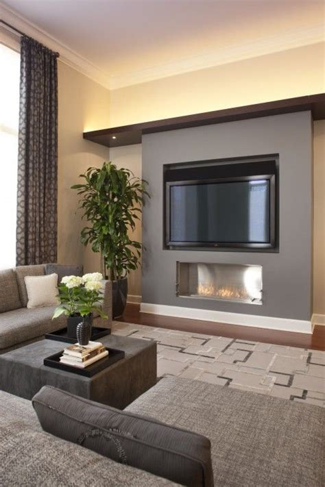 modern small living room best 25 tv fireplace ideas on pinterest