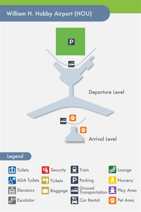 houston map hobby airport houston airport hobby hou terminal map