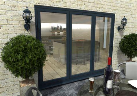 Grey Aluminium Patio Doors by Grey Bifold Doors Climadoor Aluminium External Folding Doors