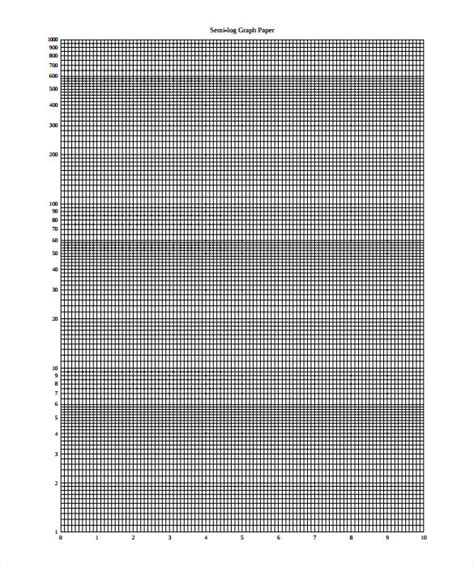 log graph paper template 10 large graph paper templates free sle exle