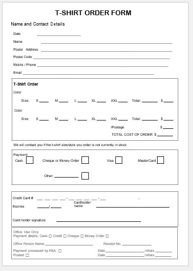 t shirt order form template free 2 t shirt order forms 50 customized t shirt order form