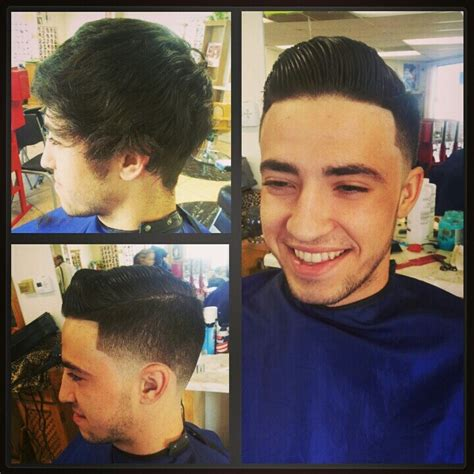 comb over taper fade style comb over fade haircuts