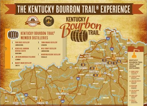 map kentucky bourbon trail 20 best images about kentucky bourbon trail on