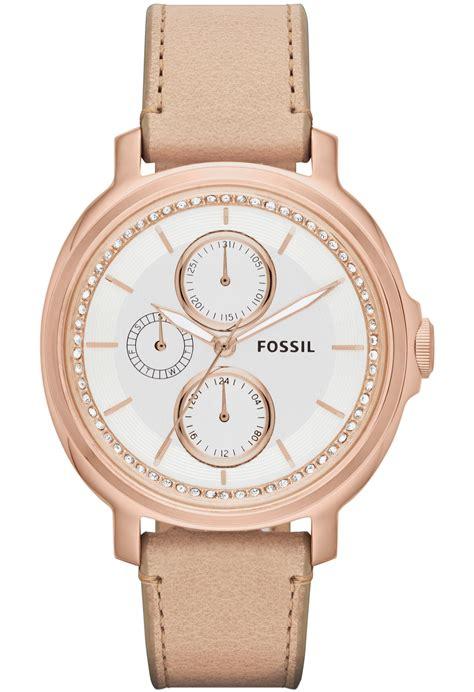 montre chelsey gold es3358 fossil beige montres co