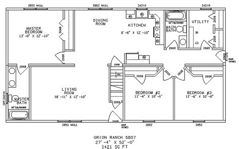 ranch floor plan house plans home designs archive floor ranch house plans 12934