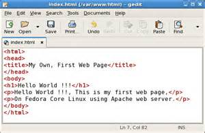create web page on fedora web server linux