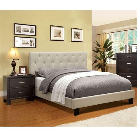 2 piece bedroom set furniture of america warscher 2 piece upholstered queen