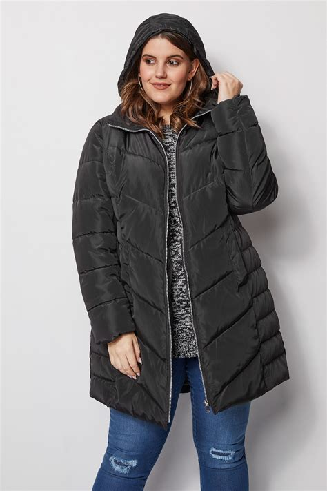 Napoclean Strong By Nry Fashion black puffa coat with zip out