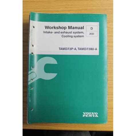 volvo penta cooling system volvo penta parts workshop manual intake exhaust system