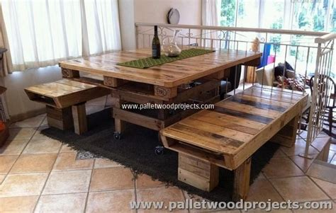 Dining Room Table Made From Pallets Recycled Wood Pallet Furniture Plans Pallet Wood Projects