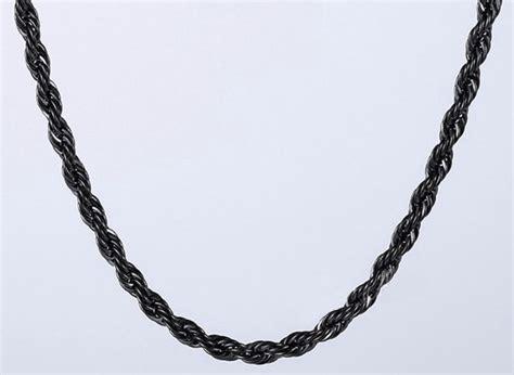 cadena torsal cadena negra torsal acero inoxidable 55cm x 4mm 300 00