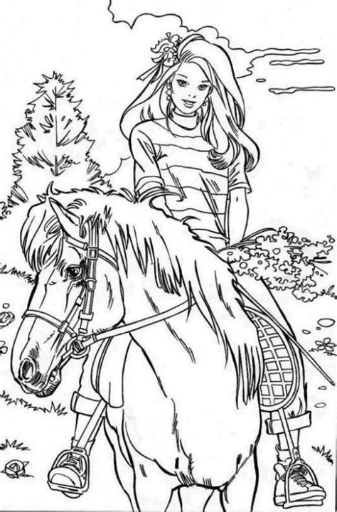 horse  rider printable coloring pages coloring