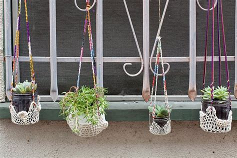 Colorful Hanging Planters by Original Diy Colorful Hanging Window Planters