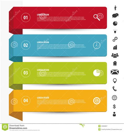 Design Clean Banners Template Infographics Vector With Icons Stock Vector Image 45858967 Clean Banner Template