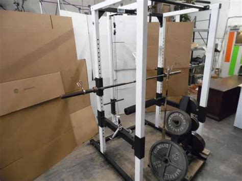 Parabody Squat Rack by Lso Auctions Lot A1015 Parabody Serious Steel Squat