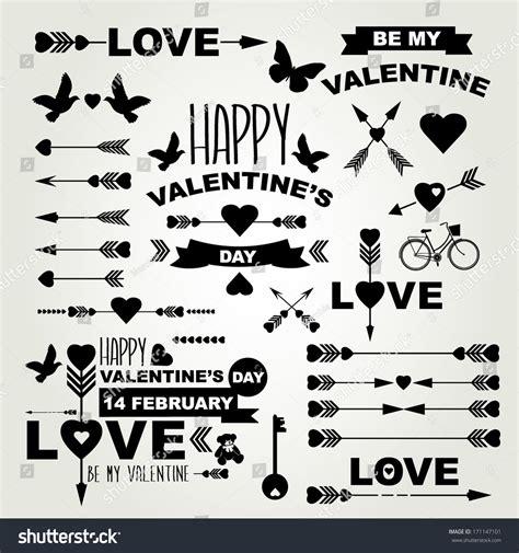 typography symbols valentines day set symbolstypographyvector illustration stock vector 171147101