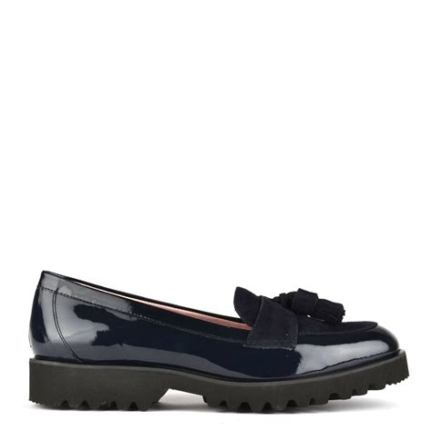 navy patent loafers elia b high track navy patent loafer