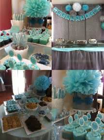 blue and grey baby shower blue baby