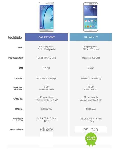 Hp Samsung On7 Vs J5 galaxy on7 ou galaxy j7 qual 233 o melhor intermedi 225 da
