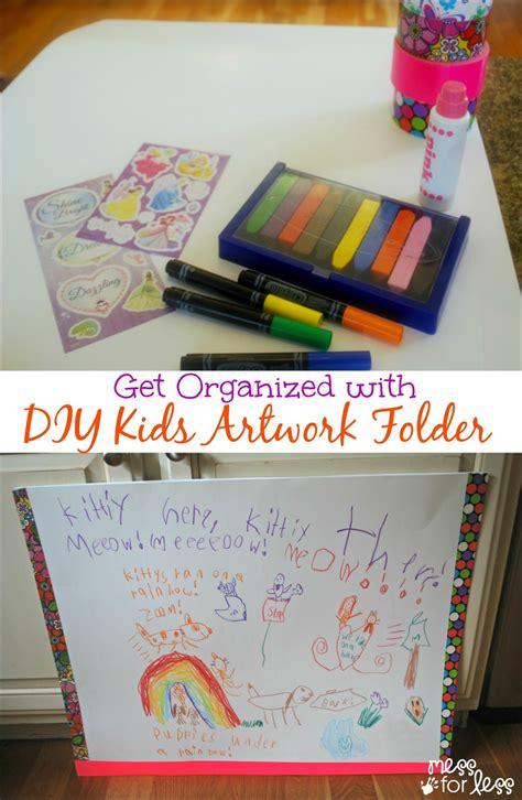 organized   diy kids artwork folder mess