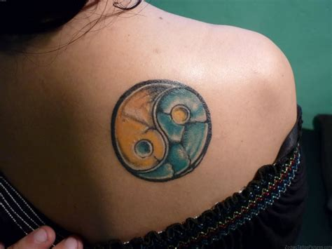 yin and yang tattoo 50 appealing virgo and yin yang tattoos for shoulder