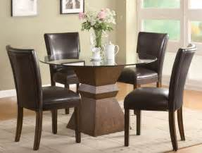 tone finish round glass top dining table with chair room furniture amp ideas chairs ikea