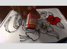 Glass Painting - Step by Step Demonstration - YouTube Easy Flower Designs For Glass Painting