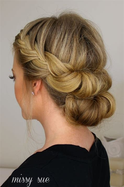 Hairstyles For Medium Hair Easy And by 101 Easy Bun Hairstyles For Hair And Medium Hair