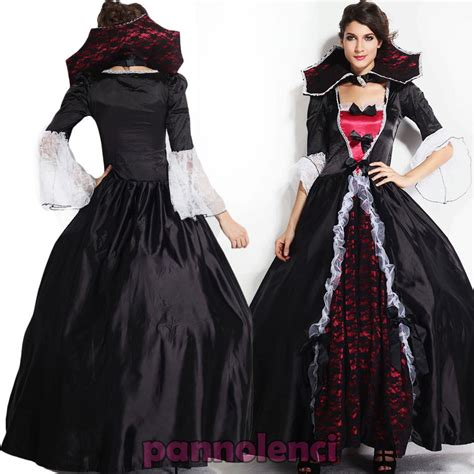 vestito carnevale donna costume strega vampiro deluxe