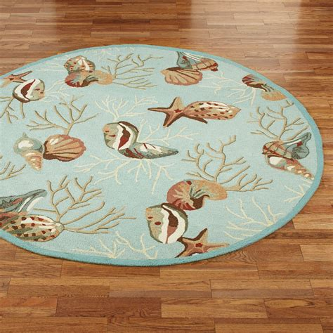 Coral Area Rugs Sale by Coral Hooked Seashell Area Rugs