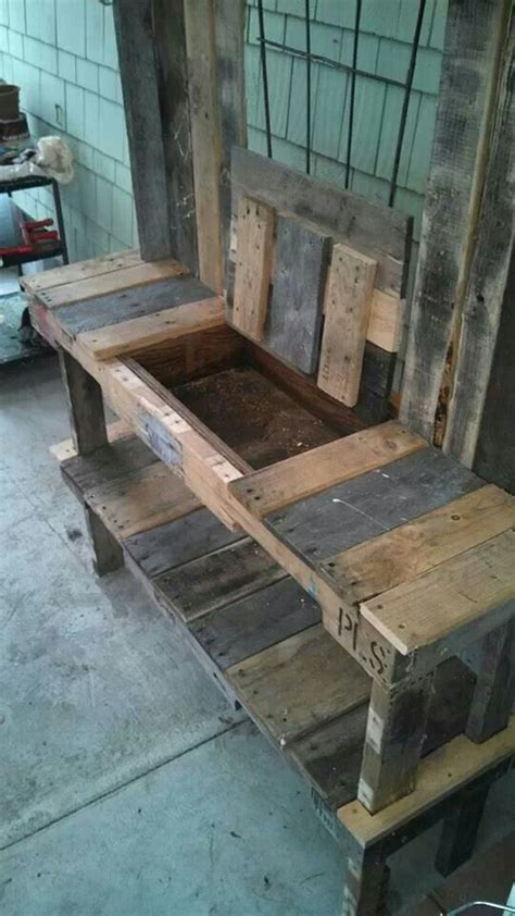 potting bench from pallets potting bench pallets crafts design and diy pinterest