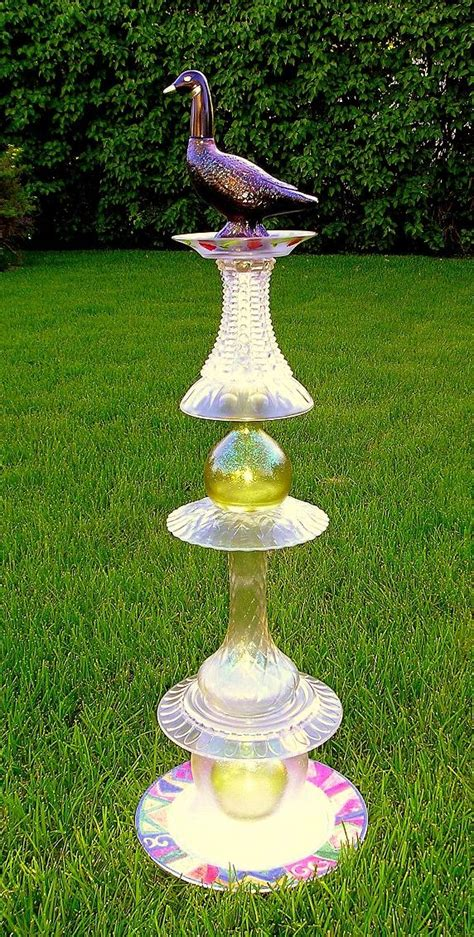 Garden Totems by Glass Garden Totem Glass And Yard