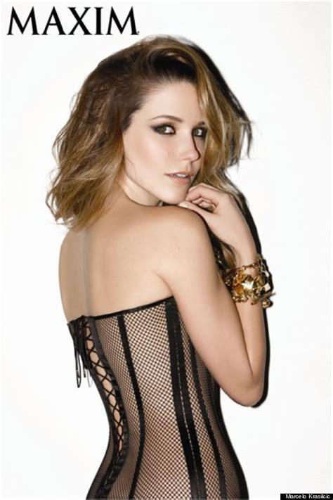Palmer Weiss by Sophia Bush Wears Skintight Corset For Maxim Photo Shoot