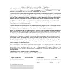 hold harmless agreement template free hold harmless agreement template 13 free word pdf