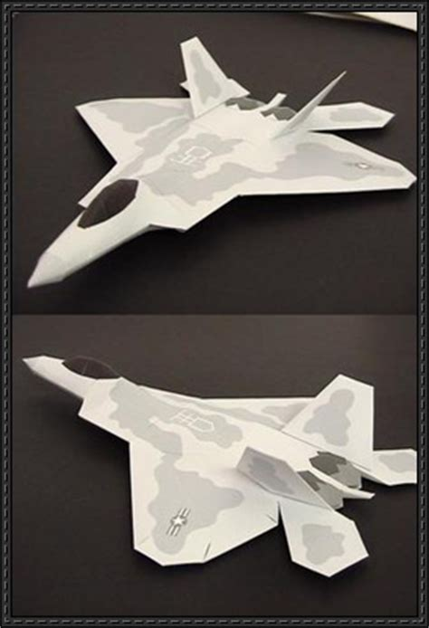 Origami F 22 Raptor - hypothesis paper airplanes jets multimediadissertation