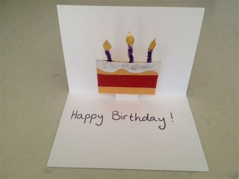 How To Make Handmade Pop Up Birthday Cards - pop up birthday card pop up greeting card birthday cake